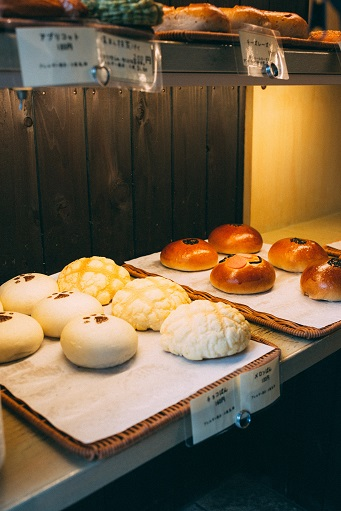 pastries at Japanese bakery
