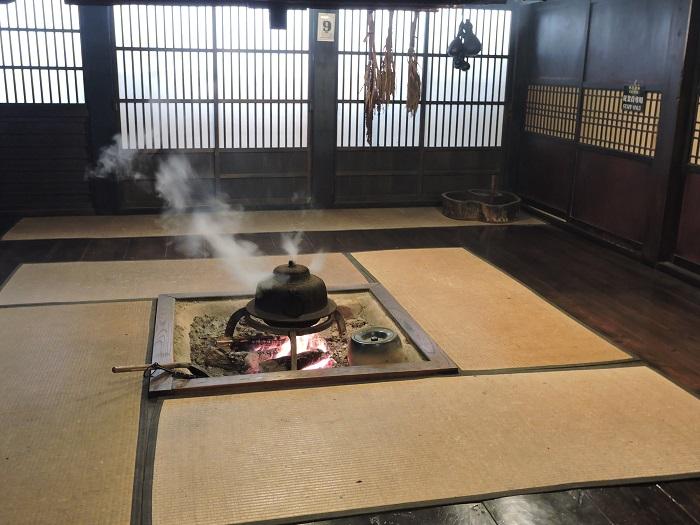 hearth inside shirakawago house