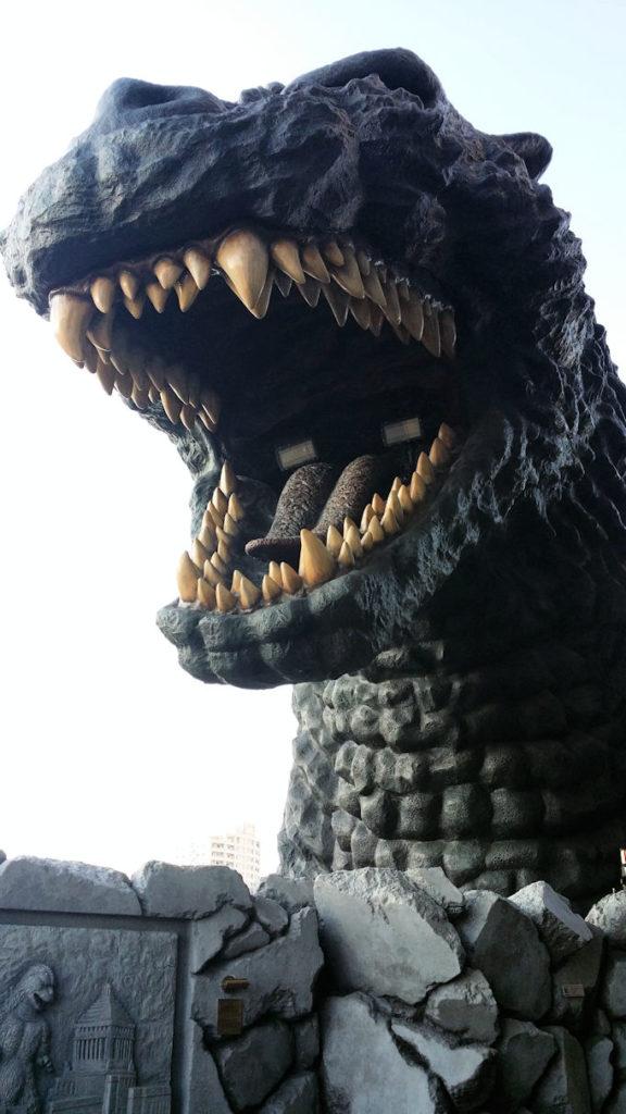 Godzilla head in Shinjuku