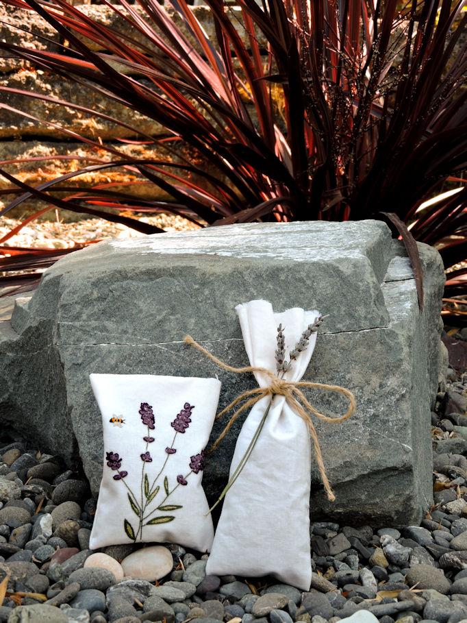 Lavender Sachets in garden