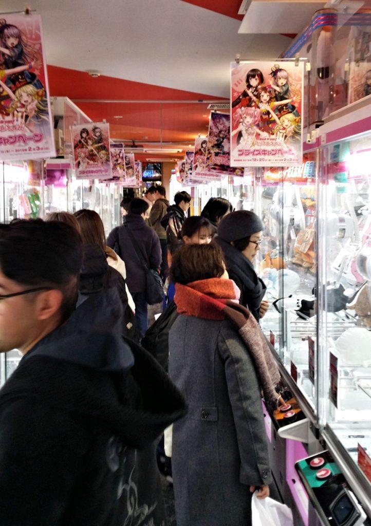claw game arcade in Akihabara