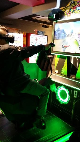 vr arcade game in akihabara tokyo