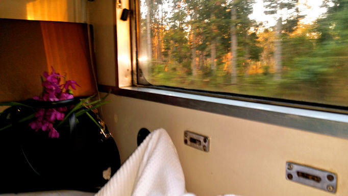 morning on overnight train to Chiang Mai