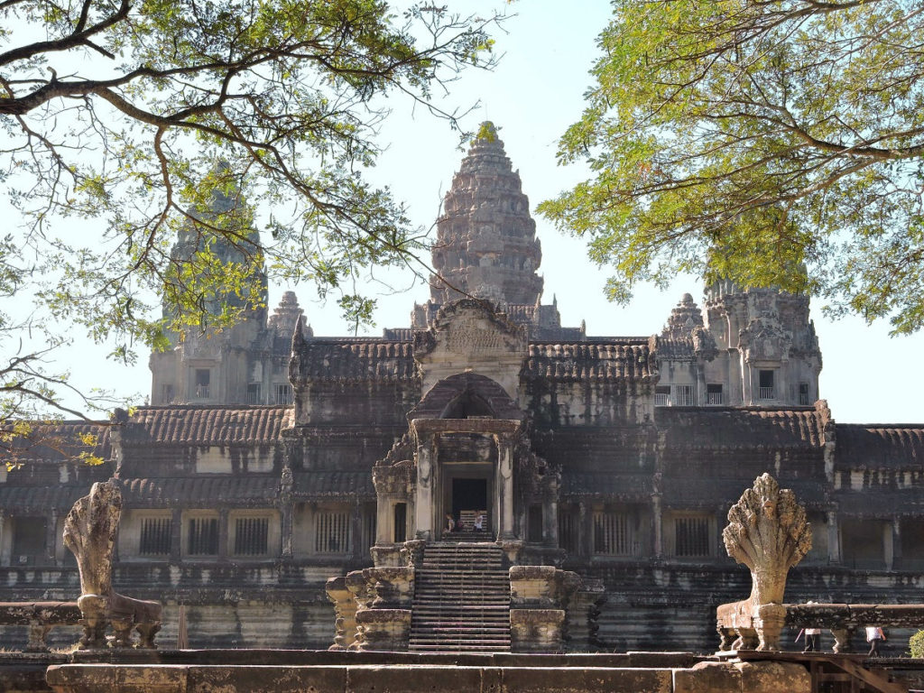 Angkor Wat from the less crowded side