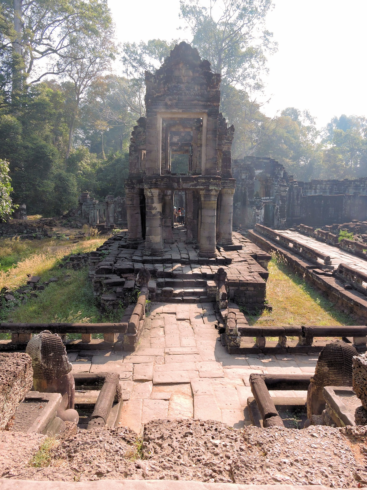 early morning view of temple ruins