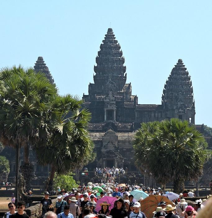 main causeway entrance to Angkor Wat