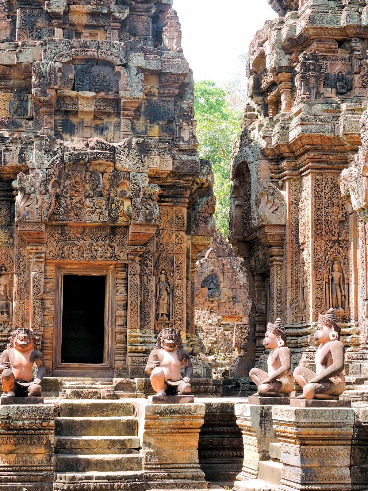 Pink Sandstone temples of Banteay Srei