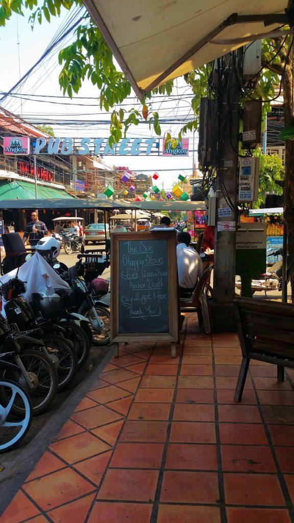 view of pub street in Siem reap
