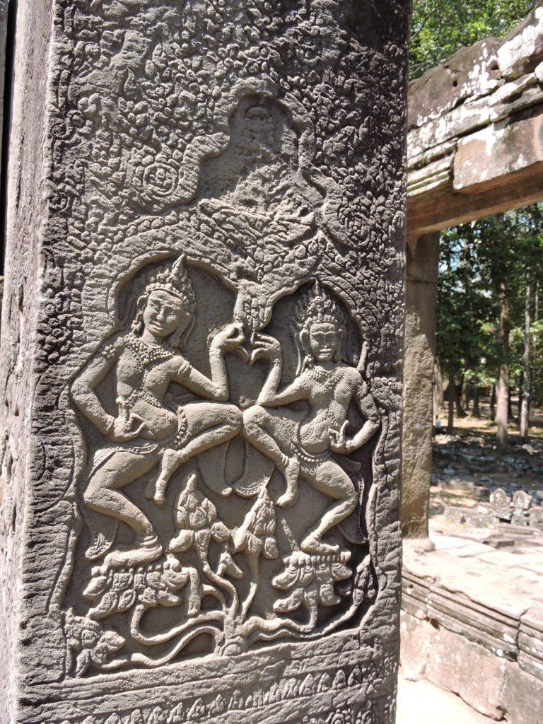 carving art work dancing figures