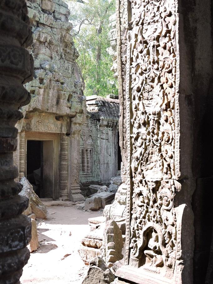 view of doorway entrance around carvings