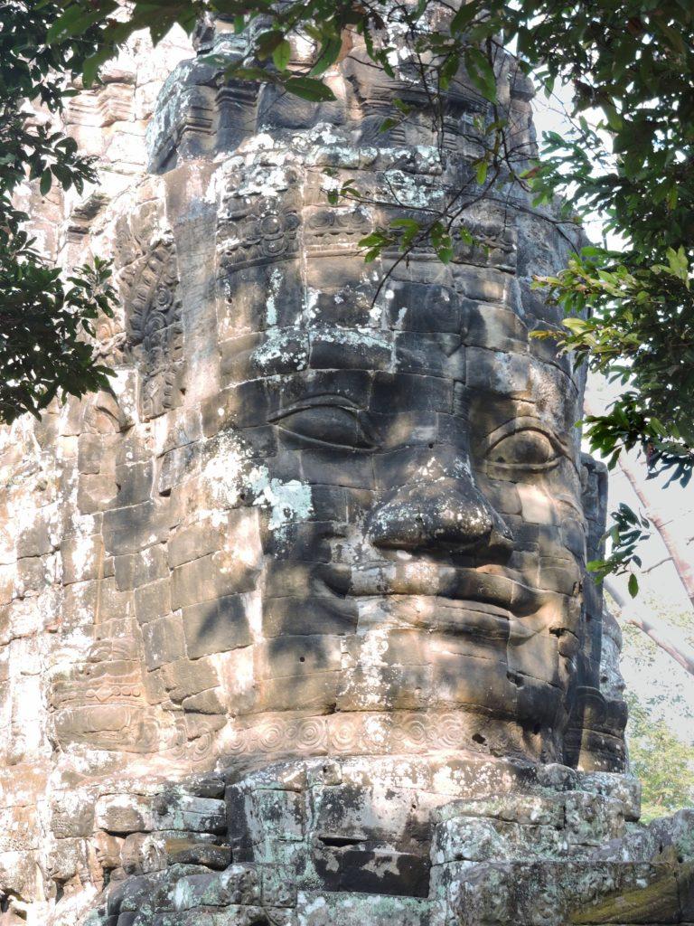 Angkor Thom gateway stone head