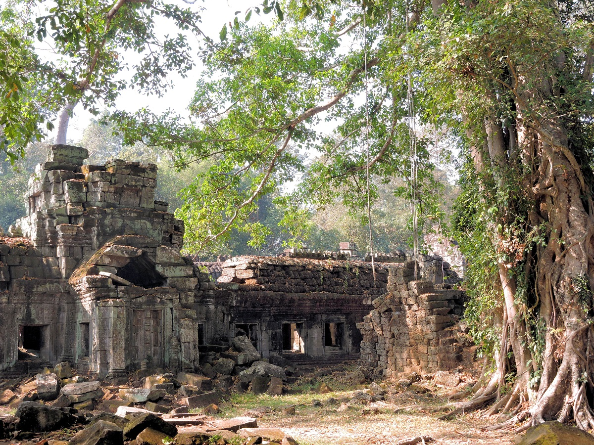 Preah Khan in the middle of dry jungle