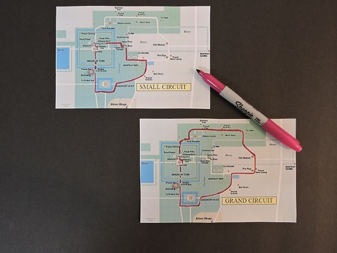 maps wtih circuits drawn on