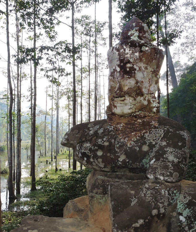 stone carvings along baray