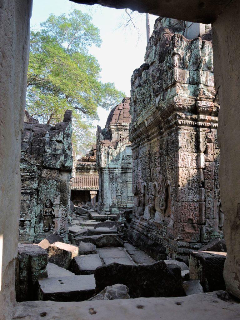 exploring through temple ruins