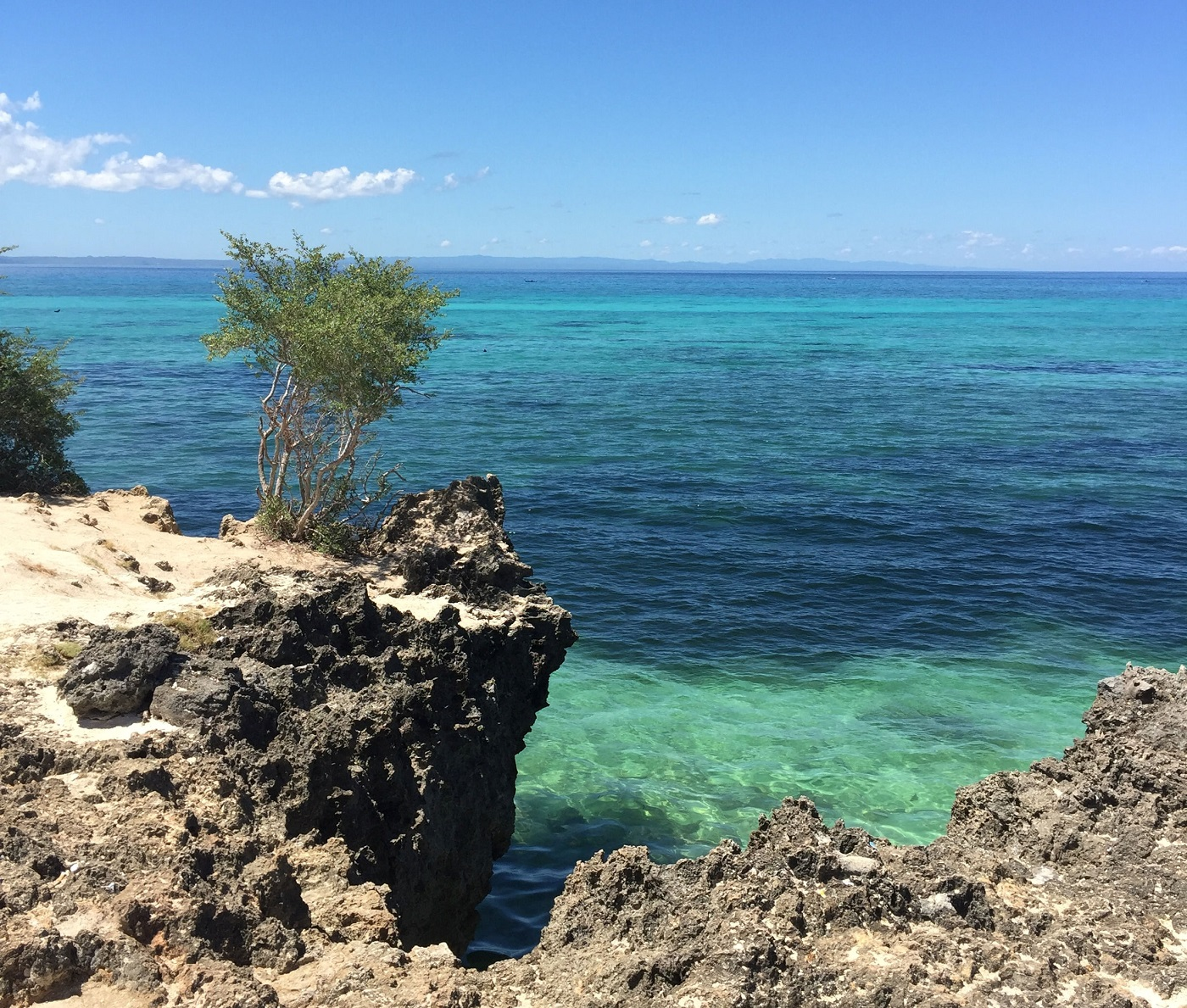 blue rocky coast of Cebu Philippines
