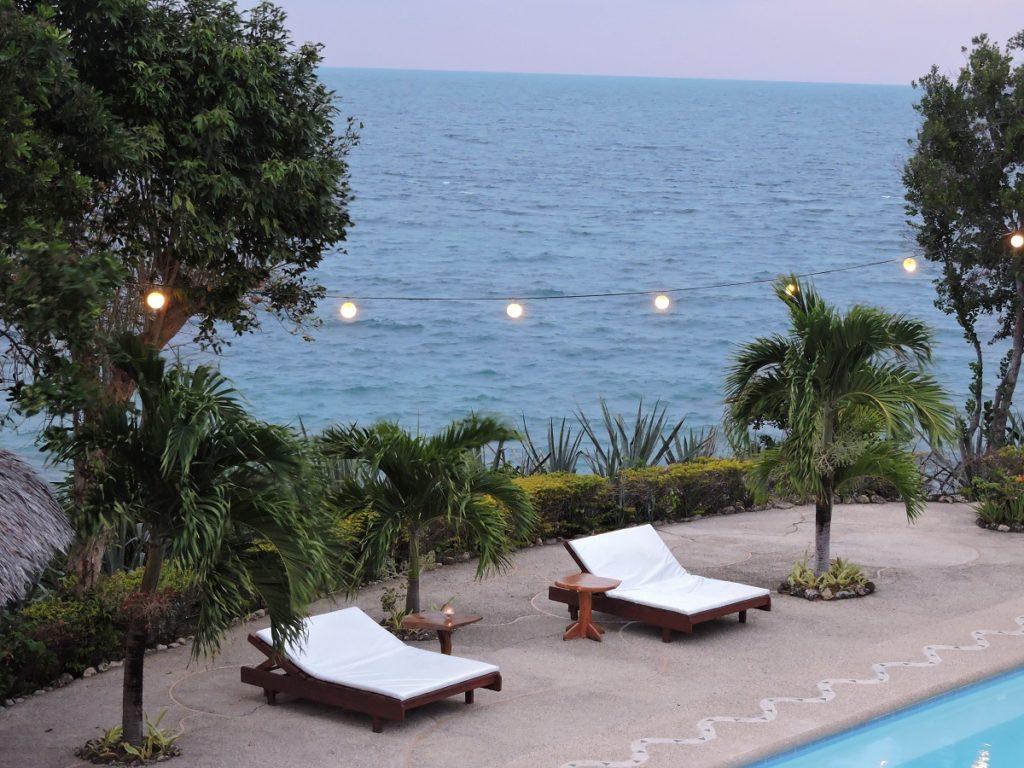 twilight ocean view from resort in Cebu