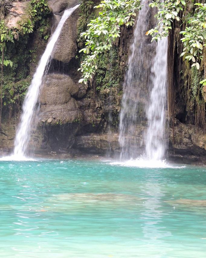 close up view of the smaller falls upper level Kawasan