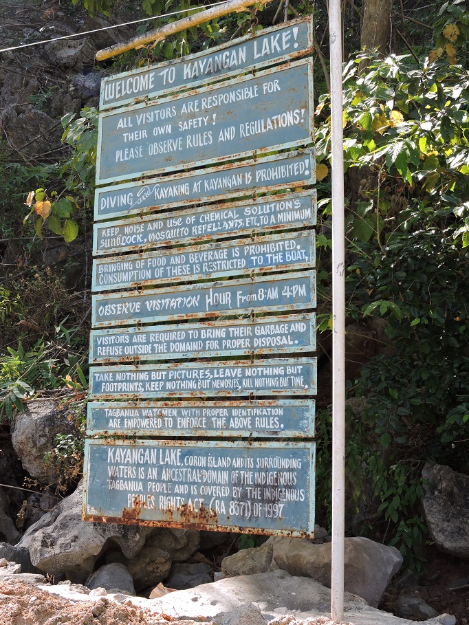 Kayangan sign of rules