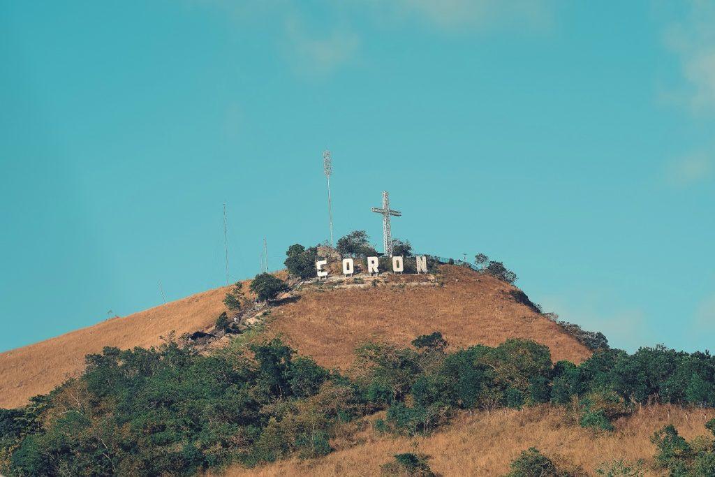 Coron sign on top of Mt. Tapyas