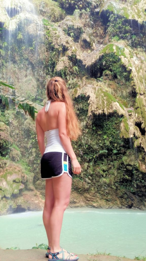 standing in front of tumalog falls