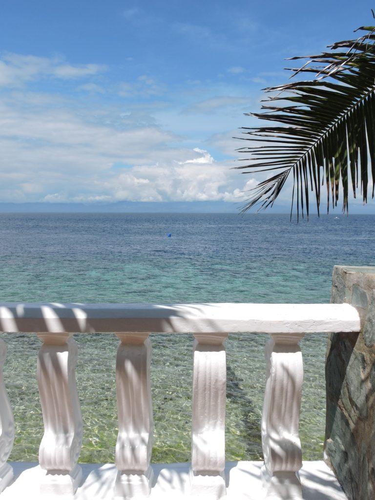 view of blue ocean