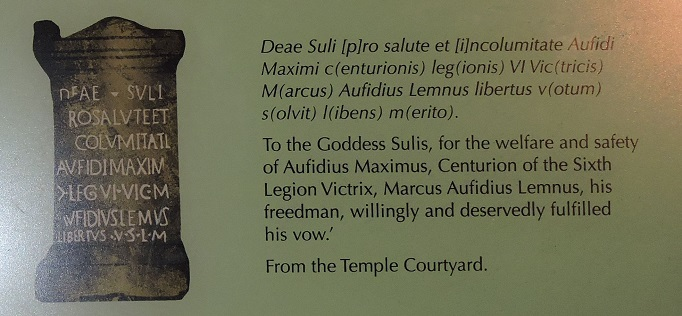 translation of inscription on stone altar from temple ruins