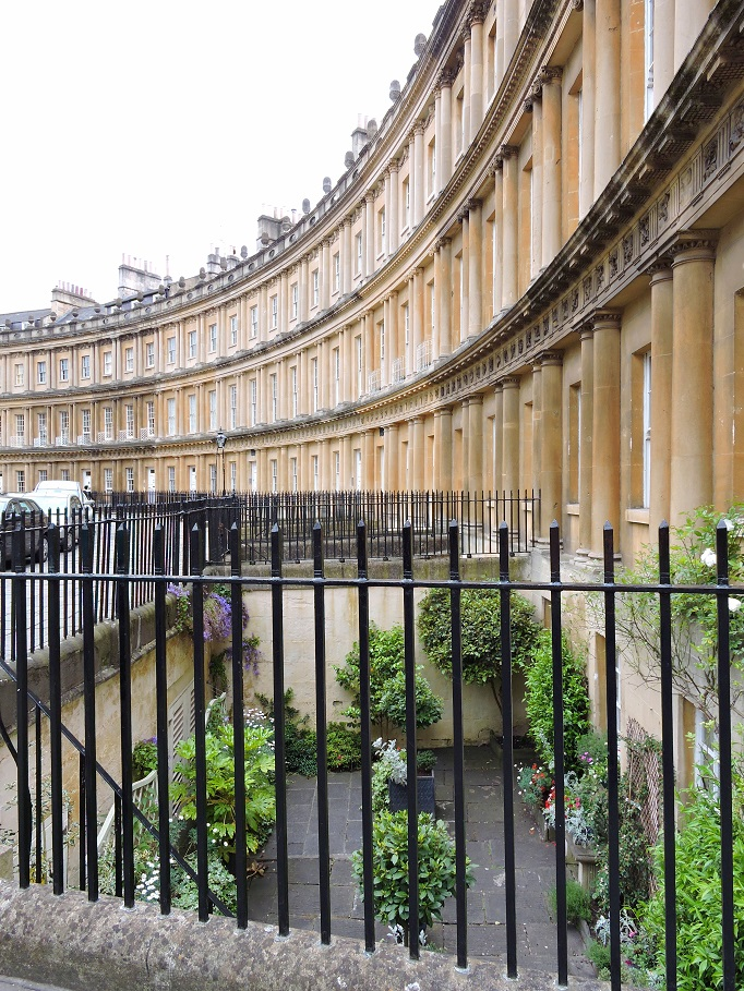 side view of circus in Bath England