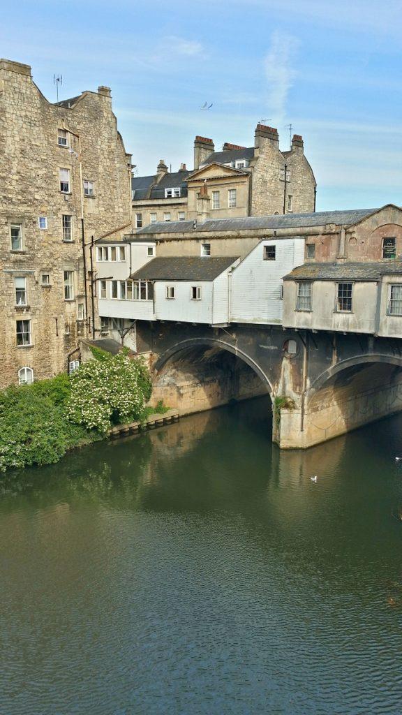 back side of pulteney bridge in Bath England