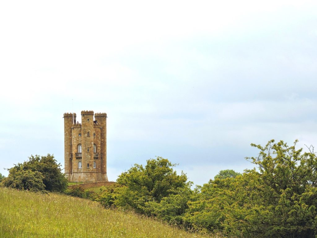 Broadway tower on hilltop