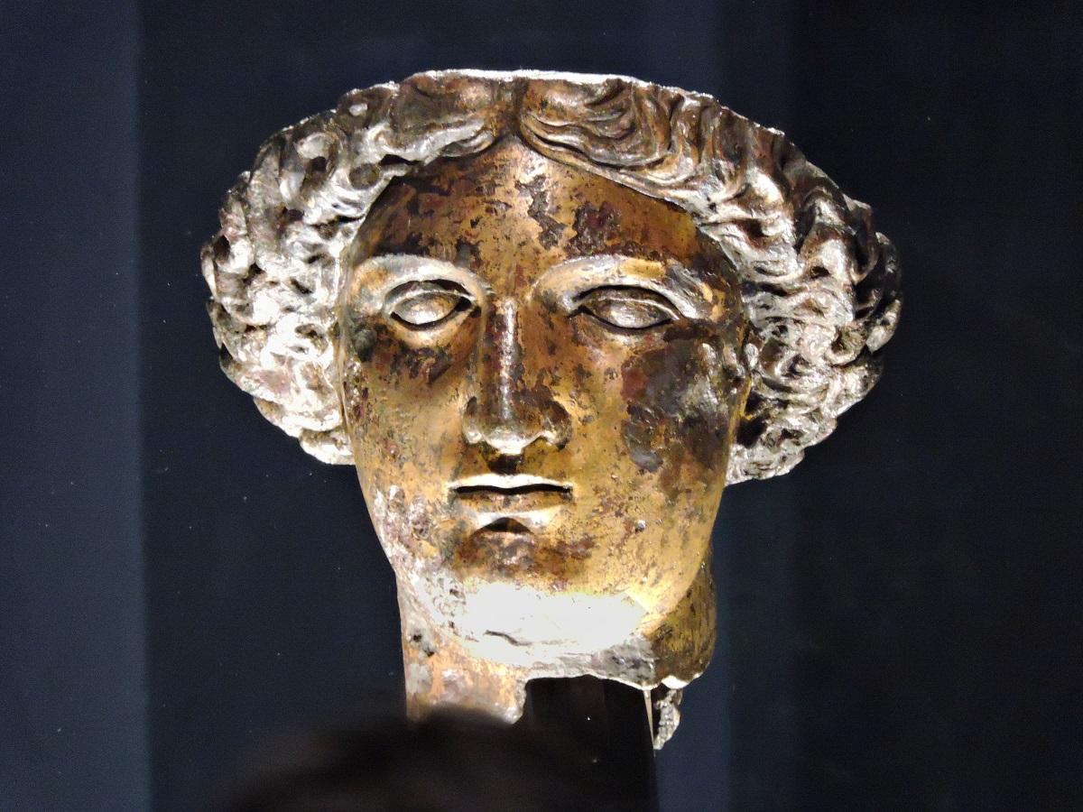 gilt bronze head of goddess Sullis Minerva