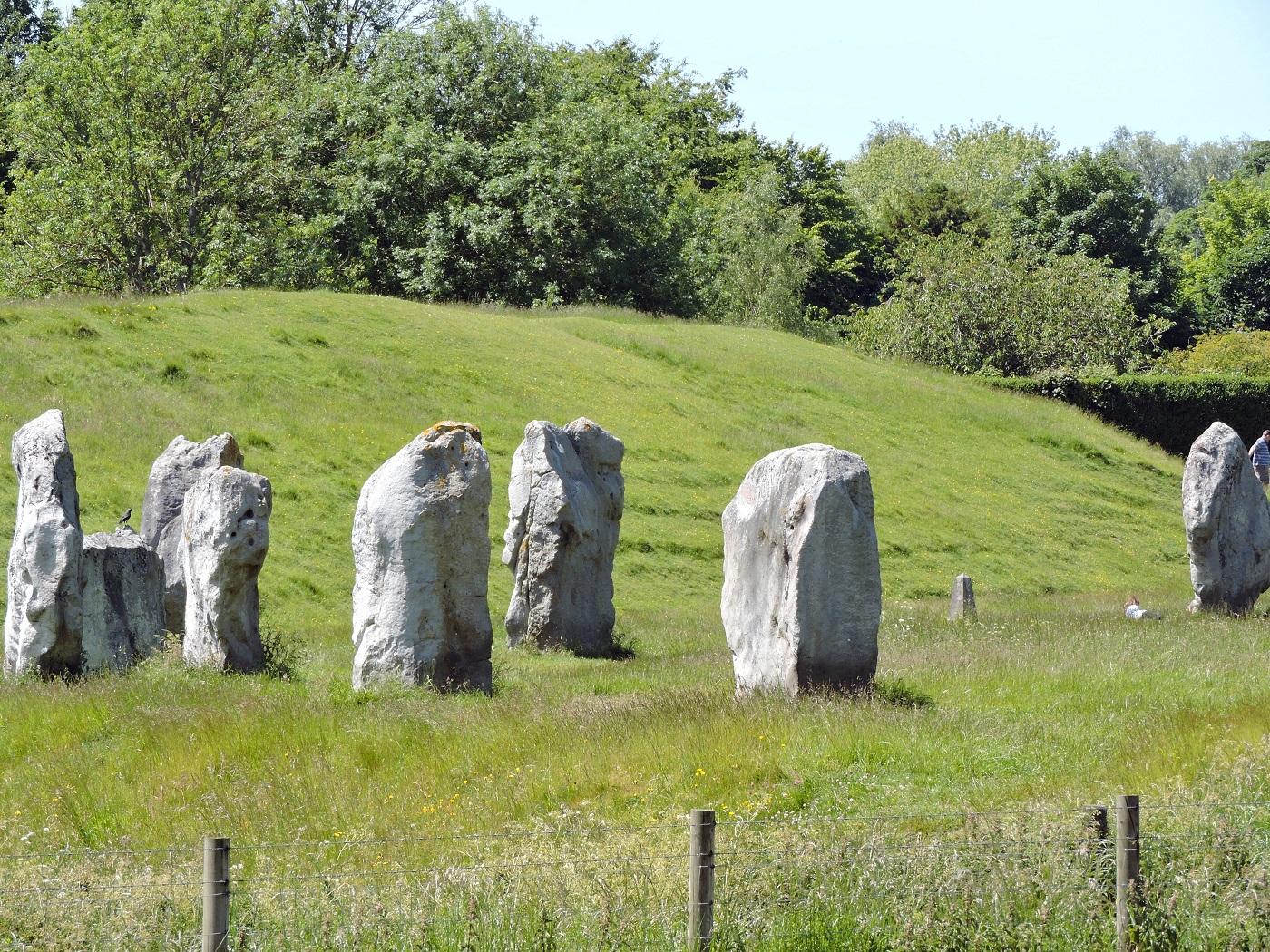 henge eath mound and stones at Avebury