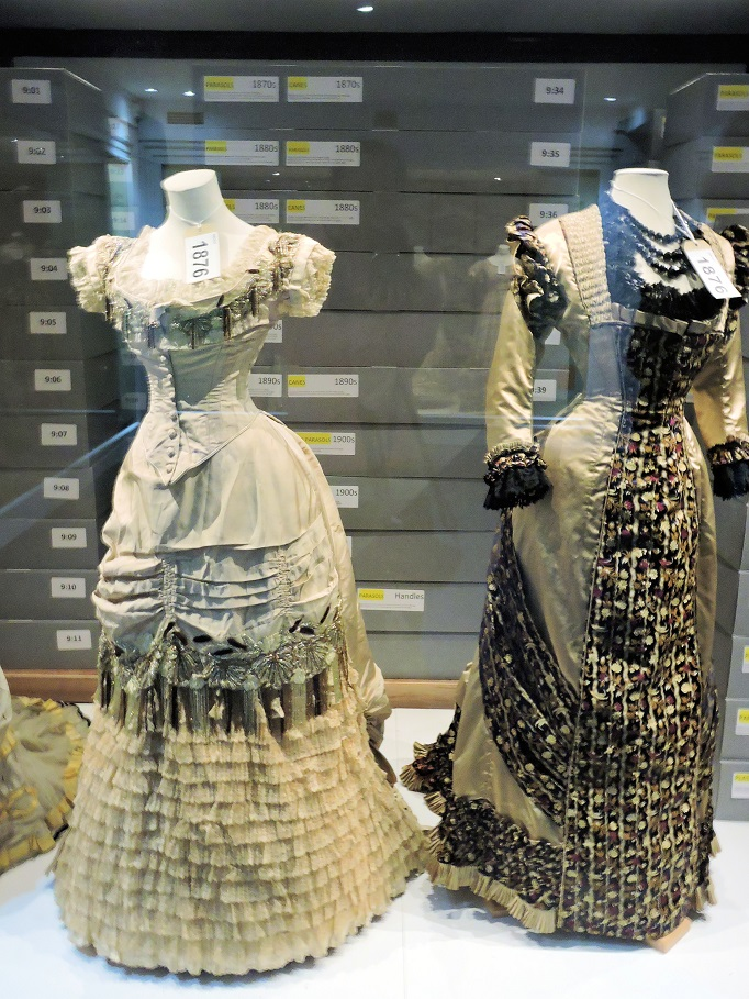 two dresses from the 19th century