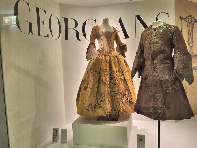 georgian garments womens dress and mens coat