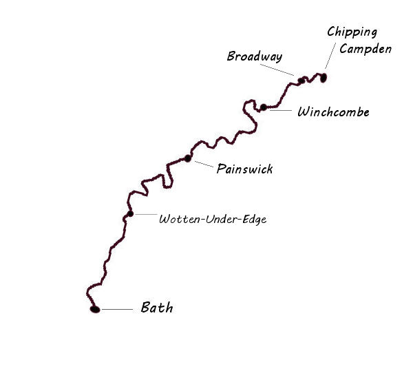 map of cotswold way trail