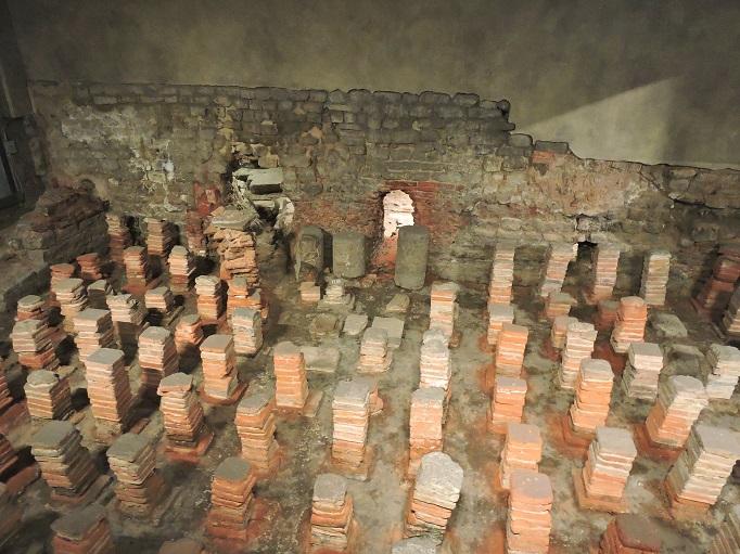 roman baths hot room ruins