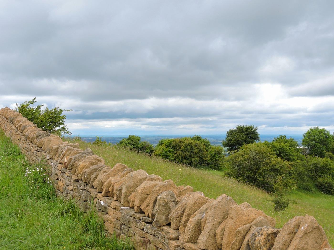 stone wall along the way