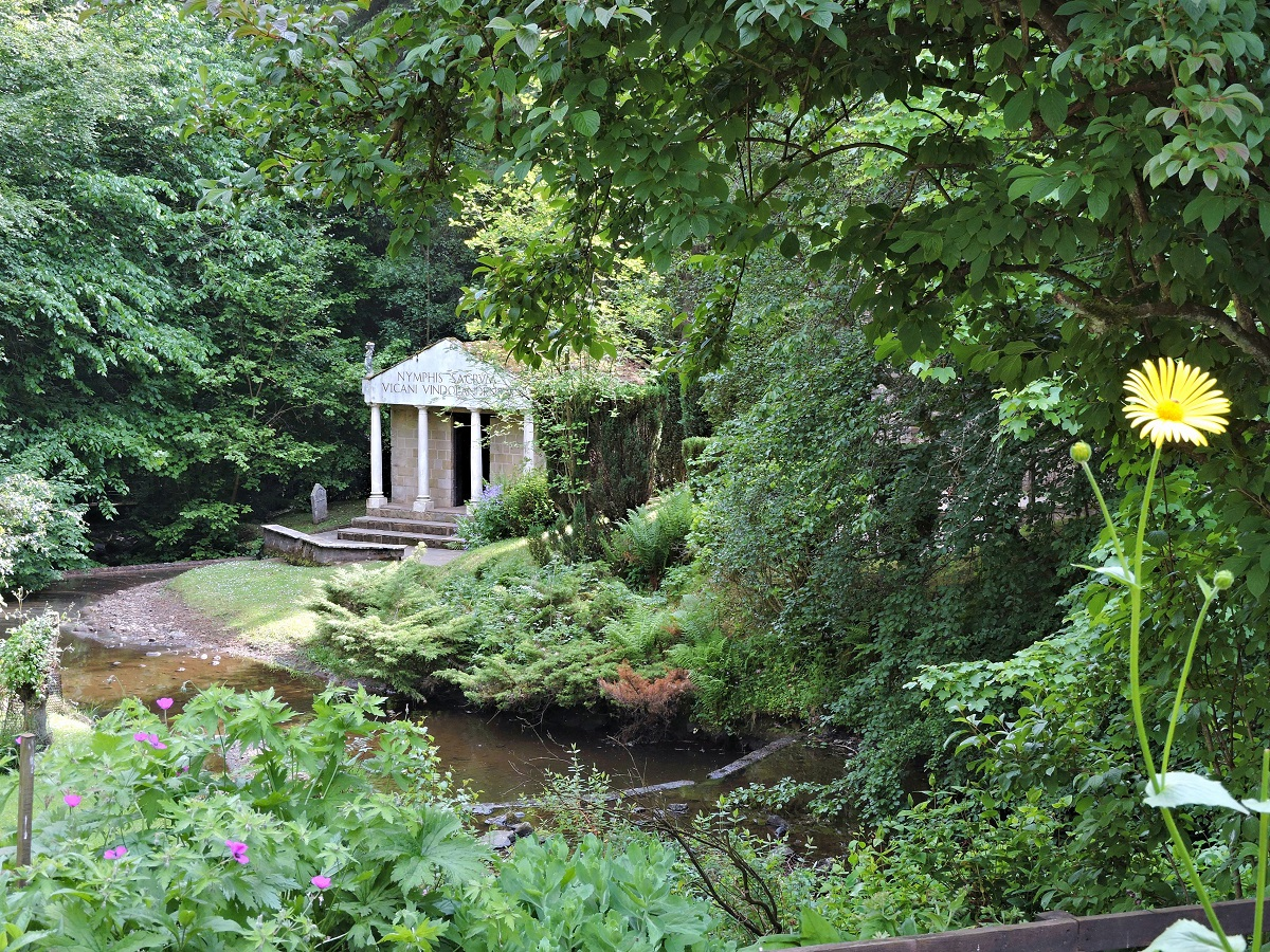 a replica of a roman temple